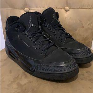 Air Jordan 3 Retro Black Cat Sz 9